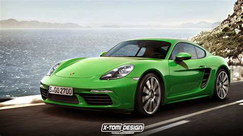 porsche cayman green porsche 718 cayman can t come a day too soon carscoops