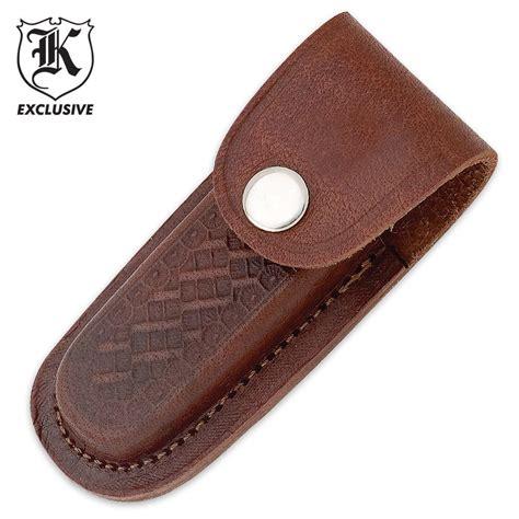 knife pocket sheath leather 4 inch folding knife sheath budk knives