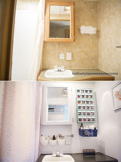 Rv Bathroom Storage Before After Gorgeous Diy Cer Renovation