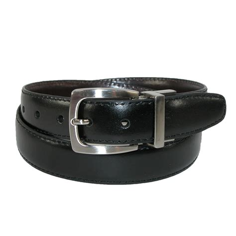 boys leather feather edge 1 inch reversible belt by