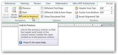 link to section of page how to use breaks in microsoft word to better format your