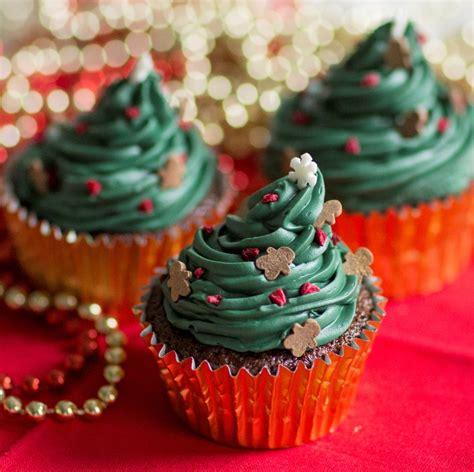 christmas tree cupcake recipe baking mad