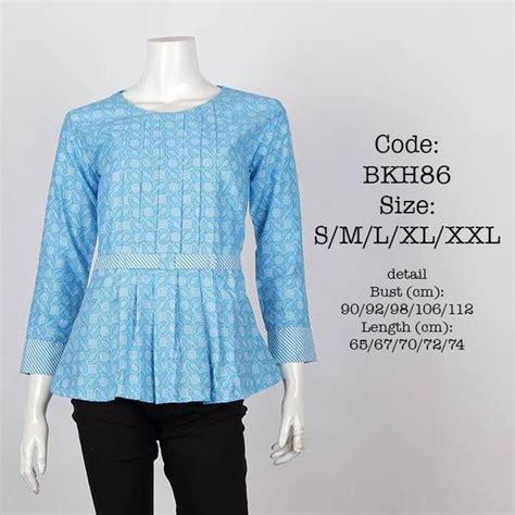 Blus Blouse Blus Pevita blus batik bkh86 batik fashion ps and blouses