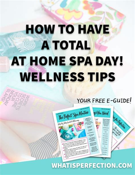 total at home spa day what is perfection