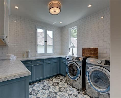 laundry room flooring 24 ways to use patterned tile in neutral spaces table and hearth