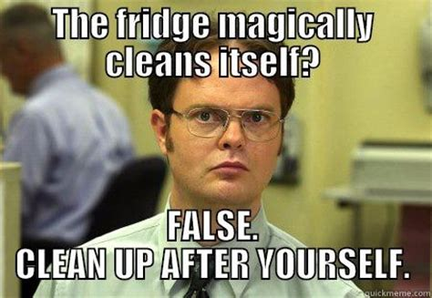 Fridge Meme - dwight memes quickmeme