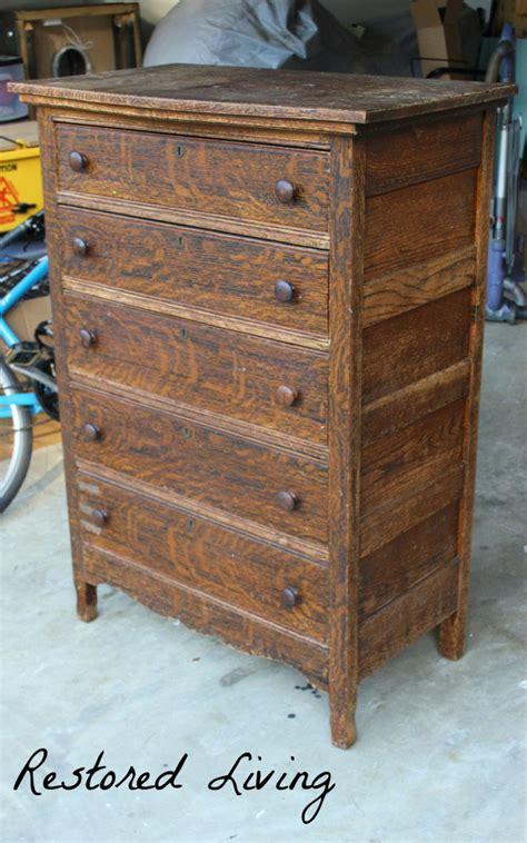 antique tiger oak dresser  java general finishes