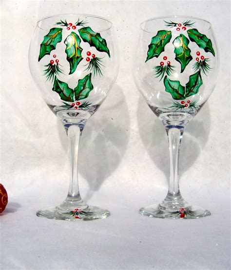 christmas patterned wine glasses decorative wine glasses keep your wine glass etched wine