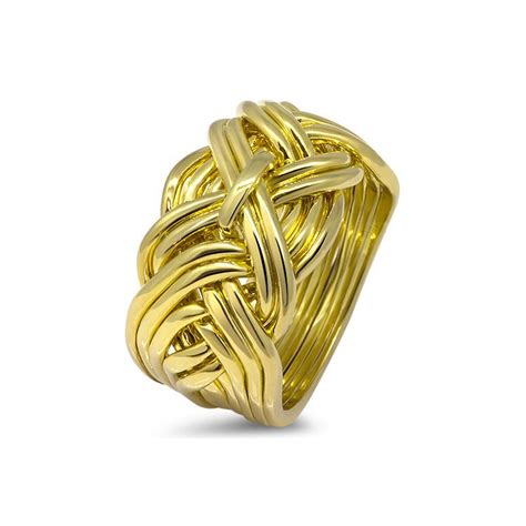 mens gold 11wd m puzzle rings creations