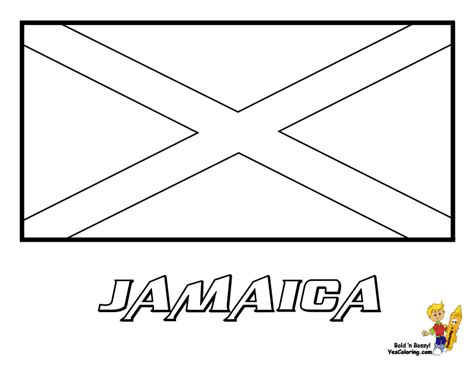 Jamaica Facts For Children A To Z Kids Stuff Jamaican Flag Coloring Page