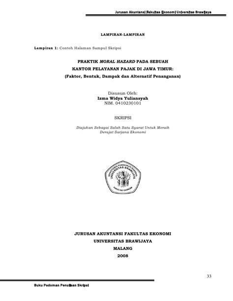 skripsi akuntansi kualitatif pedoman skripsi jur akuntansi