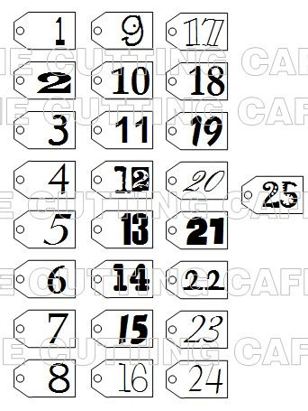 Yankee Numbers Template