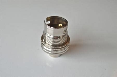 nickel bayonet fitting bulb holder l holder earthed