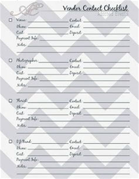 wedding contact list template 6 best images of order of the wedding planning checklist