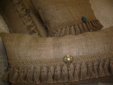 burlap pillows lynda cade a vintage farmhouse