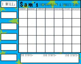 behavior sticker chart template best photos of sticker chart templates sticker behavior