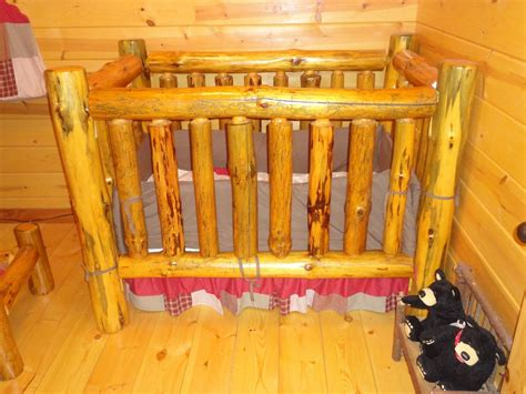 Custom Made Cribs by Handmade Rustic Pine Log Crib By Legacy Woodshop