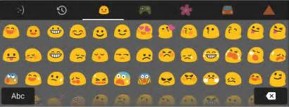 Android emojis
