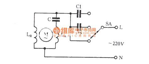 Three Speed Regulating Circuit With Single Phase Motor
