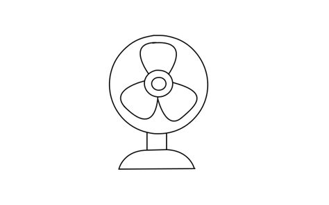 how to a fan how to draw a table fan by table fan drawing