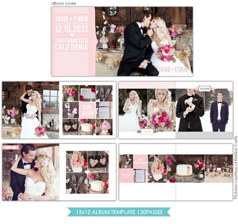 wedding album free templates instant 12x12 wedding album template heartfelt