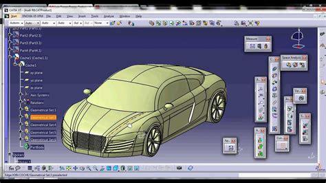 tutorial car design in catia v5 part 1 catia v5 luis torres pareja audi r8 youtube