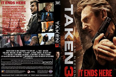 dvd slipcover taken 3 dvd covers 2014 r1 custom art