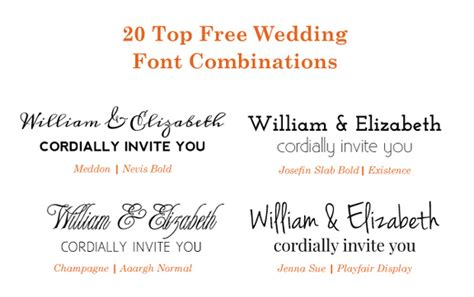 Wedding Invitation Font Combinations by 20 Popular Free Wedding Font Combinations Bonfx