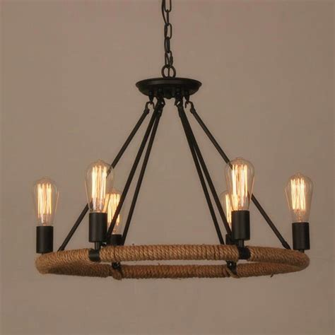 Restaurant Chandelier Industrial Farmhouse Iron Chandelier Light Edison Cafe Bar Restaurant Rustic 6 Ebay