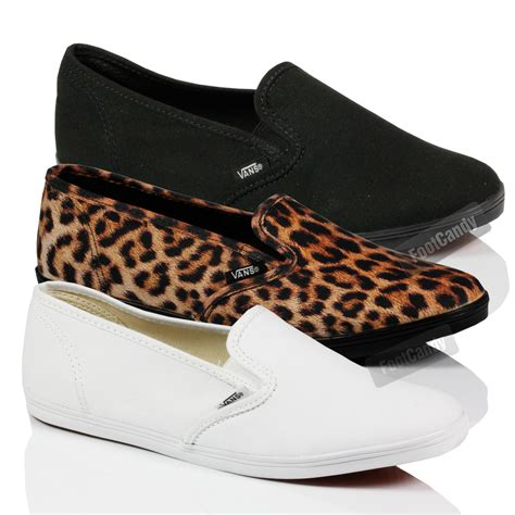 vans flat shoes vans classic lo profile slip on skate gusset flat