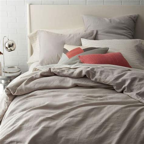 belgian linen bedding belgian flax linen duvet cover shams platinum west elm