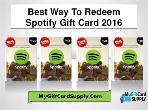 Where To Get Spotify Gift Cards - best way to redeem spotify gift card 2016