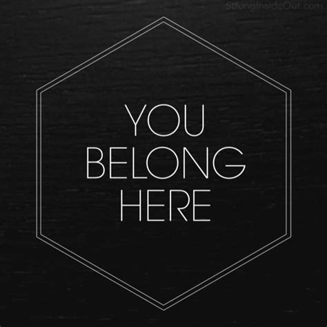 libro you belong here pin by strong inside out on hope is real