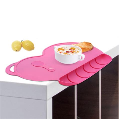 Silicone Plate Placemat Pinguin baby silicon plate sucker slip resistant baby silicone placemat waterproof snack mat food pocket