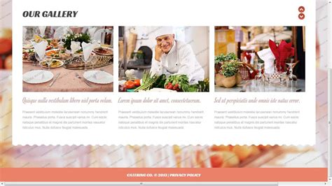 Catering Website Template Youtube Catering Website Templates Free