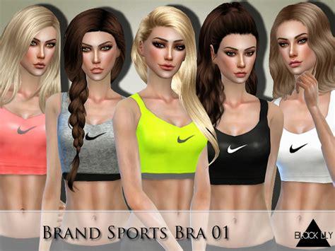 tsr sims 4 clothes sports black lily s brand sports bra 01