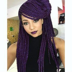 how to braid a swoop in the front purple braids styles 35 gorgeous purple braids hairstyles