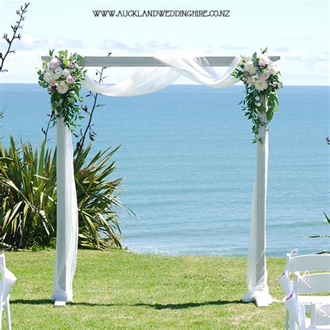 Wedding Arch White by Vintage Whitewash Wooden Arch Wedding And Event Hire