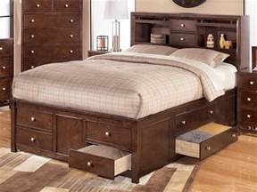 King Size Bed With Drawers Underneath King Bed With Storage Drawers Underneath Home Design Ideas