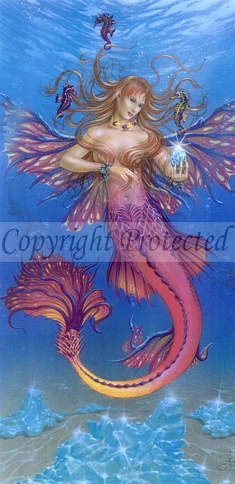 aquamarine mermaid fairy water elemental 16 x 22 water elemental by ed beard jr art prints fairyglen com