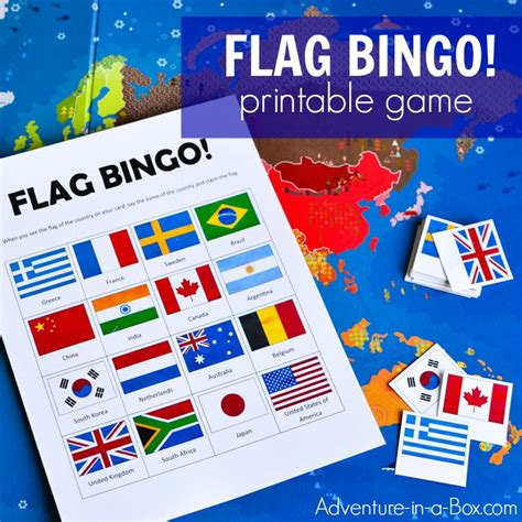 flags of the world memory game flags of the world bingo printable game for kids