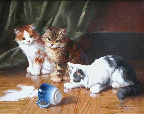 painting cats cat painting 7 alfred brunel de neuville painting