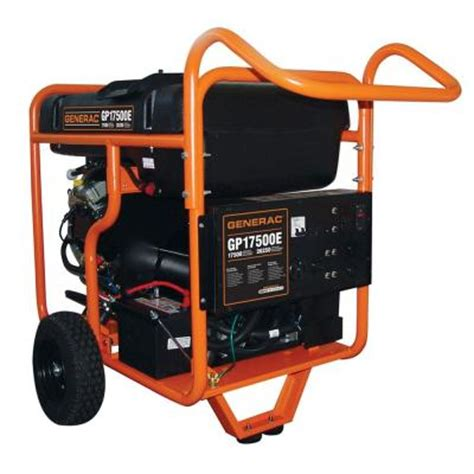 generac 17 500 watt gasoline powered electric start