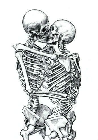 skeletons come out and places from drilling kissing skeletons
