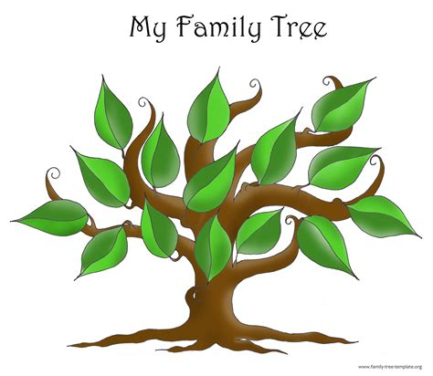Family Tree Template Resources Genealogy Tree Template