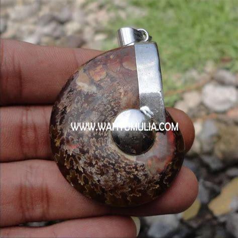 Batu Akik Puser Bumi Liontin liontin batu ammonite kode 193 wahyu mulia