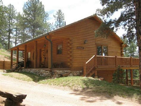 colorado log home guest house bordering national forest