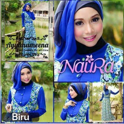 Baju Muslim Wanita Gamis Fitria Size Ori Naura Murah Terbaru naura by ayyanamena biru baju muslim gamis modern