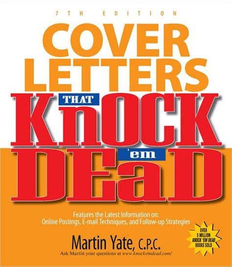 knock em dead cover letters cover letters that knock em dead by martin yate
