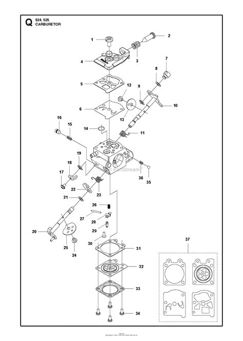 husqvarna     parts diagram  carburetor